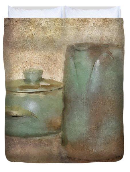 Frankhoma Pottery Duvet Cover by Betty LaRue