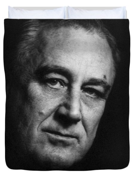 Franklin Delano Roosevelt  - President Of The United States Of America Duvet Cover by International  Images