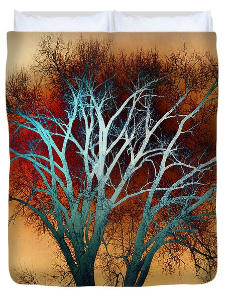 Freaky Tree 1 Duvet Cover by Marty Koch