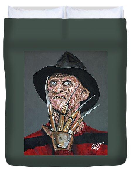 Freddy Kruger Duvet Cover by Tom Carlton