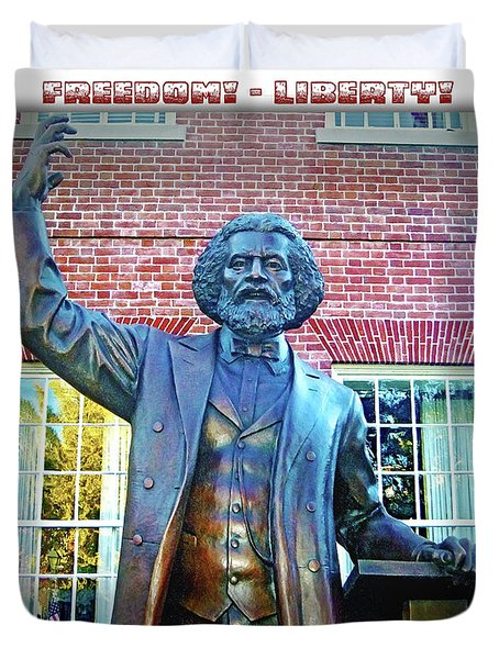 Frederick Douglass Duvet Cover by Brian Wallace