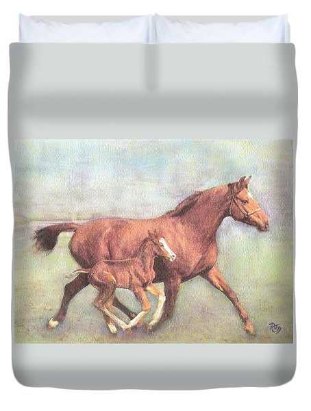 Free And Fleet As The Wind Duvet Cover