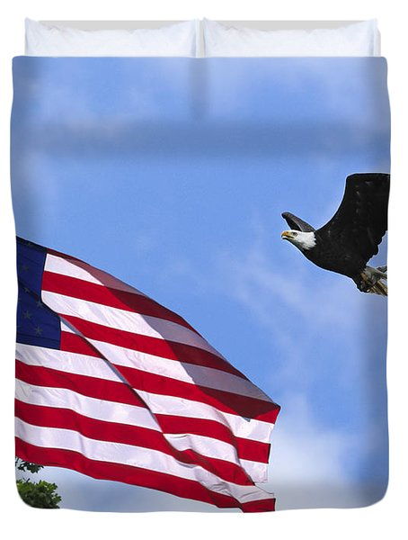 Duvet Cover featuring the photograph Freedom Feeds The Family by Randall Branham