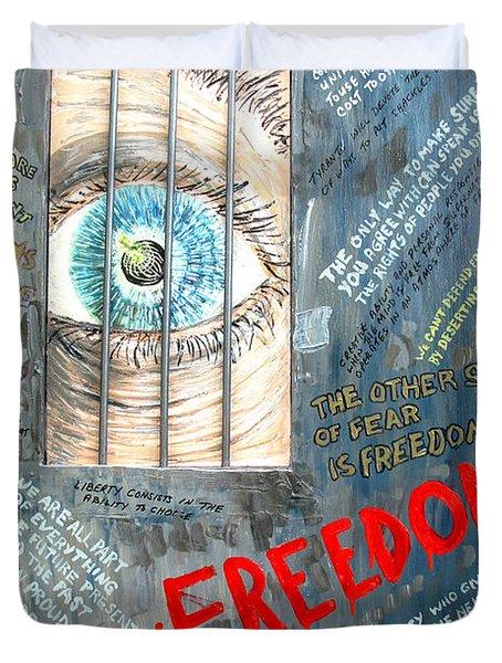 Freedom Duvet Cover by Ian  MacDonald