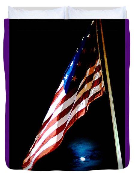 Flag On Federal Hill Duvet Cover