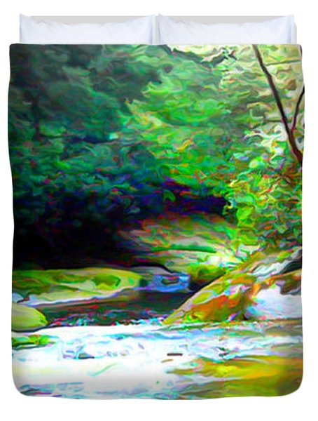French Broad River Filtered Duvet Cover