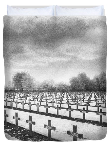 French Cemetery Duvet Cover by Simon Marsden