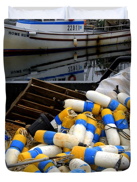 French Creek Trawlers Duvet Cover by Bob Christopher