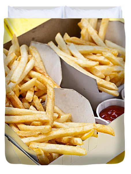 French Fries In Box Duvet Cover