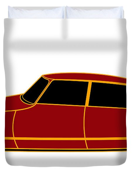 French Iconic Car - Virtual Car Duvet Cover by Asbjorn Lonvig
