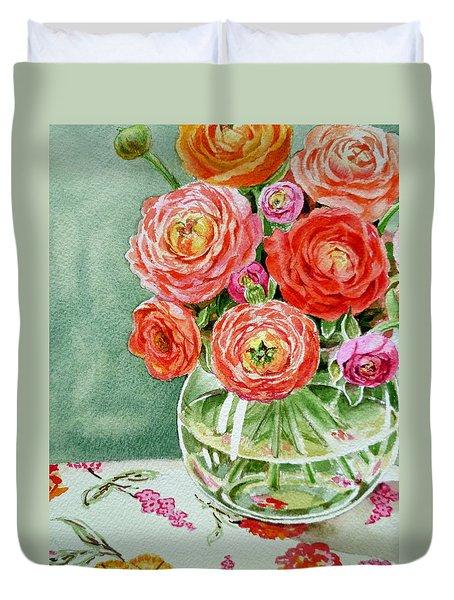 Fresh Cut Flowers Duvet Cover by Irina Sztukowski