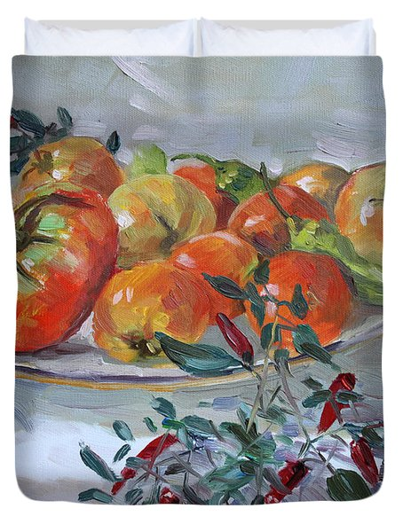 Fresh From The Garden Duvet Cover by Ylli Haruni