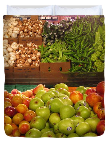 Fresh Market Series. Bounty. Duvet Cover by Ausra Huntington nee Paulauskaite