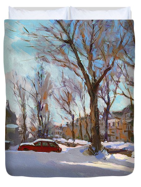 Fresh Snow Duvet Cover by Ylli Haruni