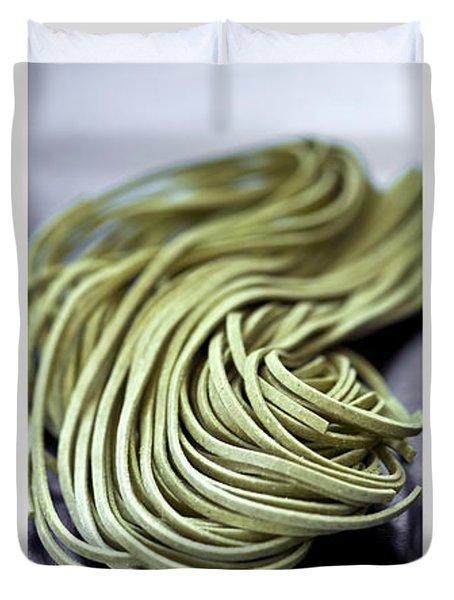 Fresh Tagliolini Pasta Duvet Cover by Elena Elisseeva