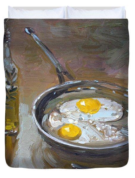 Fried Eggs Duvet Cover