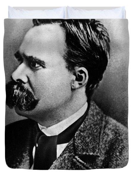 Friedrich Wilhelm Nietzsche, German Duvet Cover by Omikron