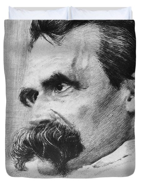 Friedrich Wilhelm Nietzsche, German Duvet Cover by Photo Researchers