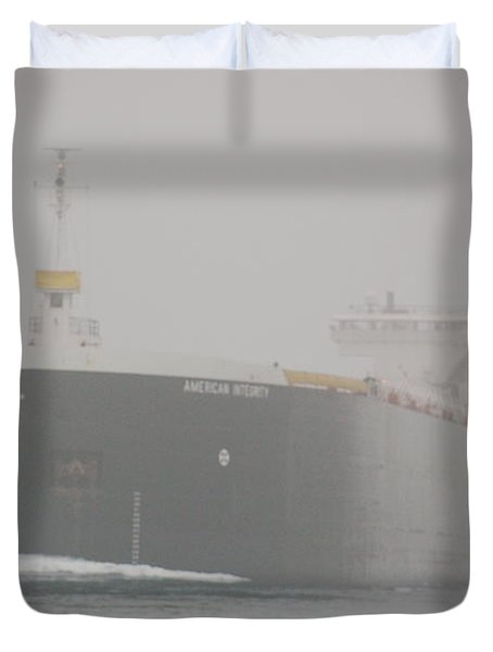 Frieghter Close Up Duvet Cover by Randy J Heath
