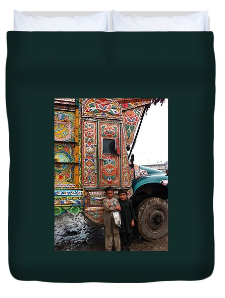 Friends - Take Me For A Ride In Your Jingly Truck Duvet Cover