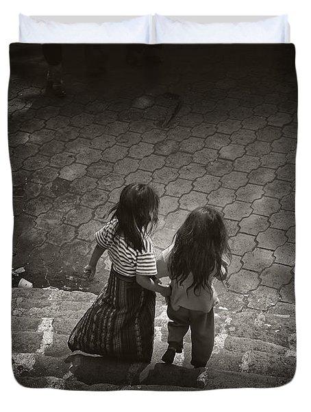 Friends Duvet Cover by Tom Bell