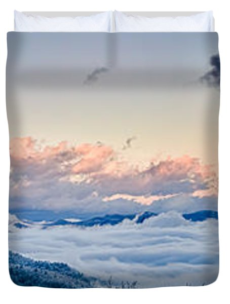 Duvet Cover featuring the photograph Frosty Morning by Joye Ardyn Durham