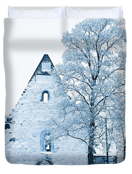 Frosty Ruins Duvet Cover