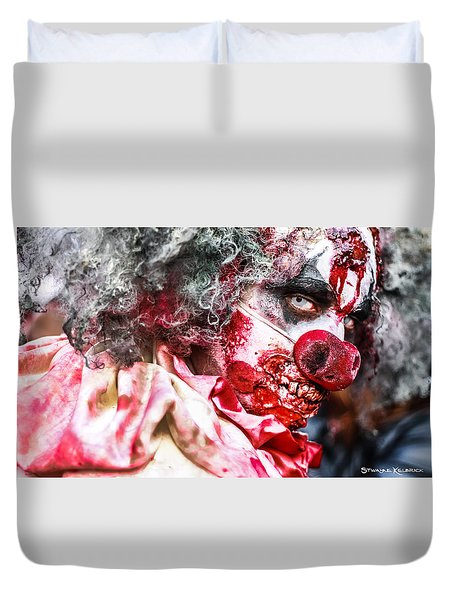 Duvet Cover featuring the photograph Frozen Tremors by Stwayne Keubrick