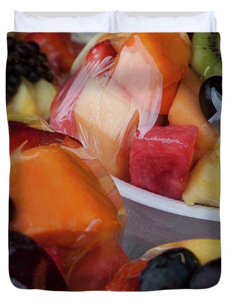 Fruit Cup Duvet Cover by Lorraine Devon Wilke
