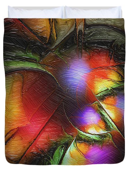 Fruit Of The Forest Duvet Cover by Amanda Moore