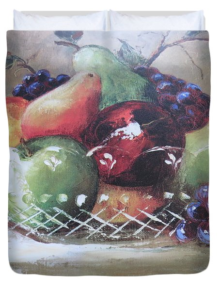 Fruit Still-life  Duvet Cover by Kay Novy