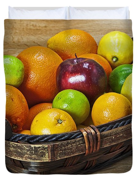 fruits with vitamin C Duvet Cover by Joana Kruse