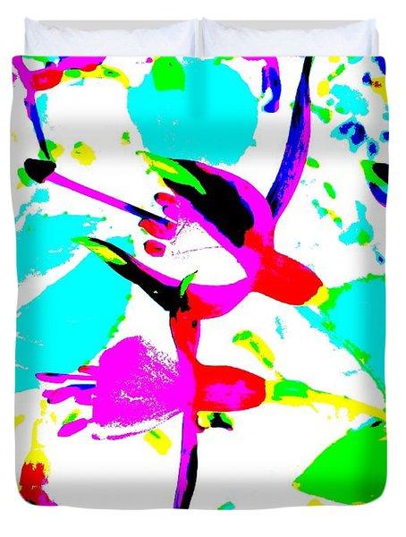 Fuchsia Duvet Cover by Barbara Moignard