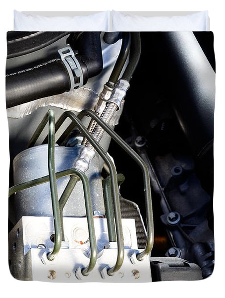 Fuel Injection System Duvet Cover by Photo Researchers
