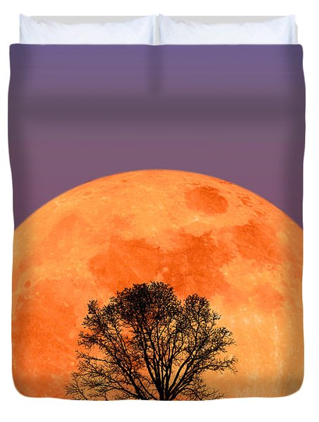 Full Moon Duvet Cover by Larry Landolfi and Photo Researchers