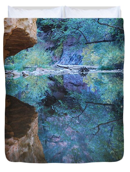 Fully Reflected Duvet Cover by Heather Kirk