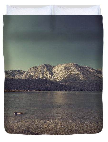 Fun At The Lake Duvet Cover by Laurie Search