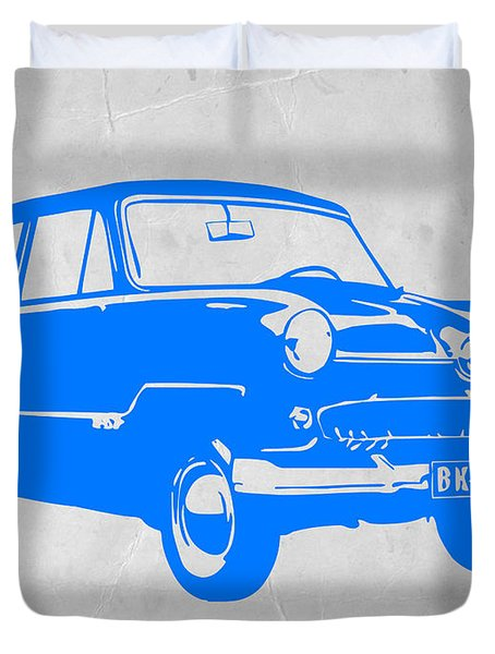 Funny Car Duvet Cover