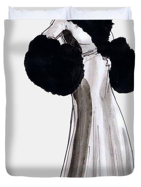 Fur Coat Duvet Cover by Mel Thompson