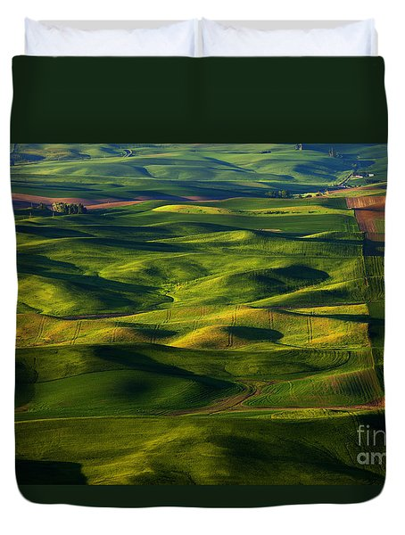 Furrows And Folds Duvet Cover by Mike  Dawson