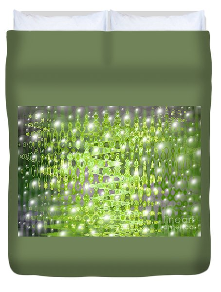 Future Forest Abstract Duvet Cover by Carol Groenen