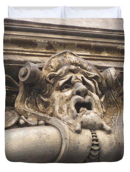 Gaging Choking Duvet Cover by John Malone