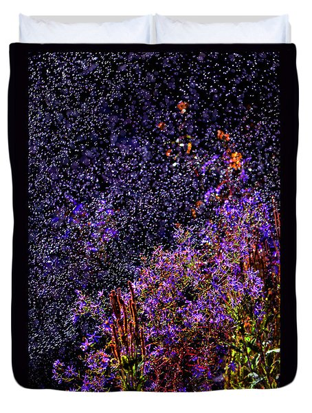 Duvet Cover featuring the photograph Galactic Gardens by Susanne Still