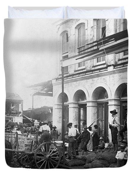 Galveston Flood - September - 1900 Duvet Cover by International  Images