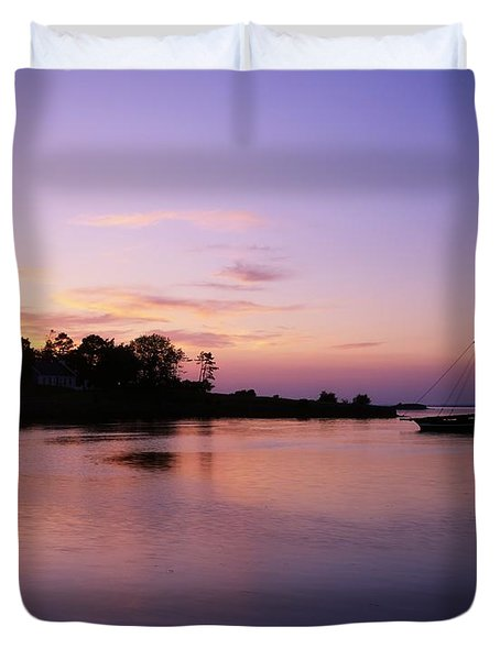Galway Bay, Co Galway, Ireland Sunset Duvet Cover