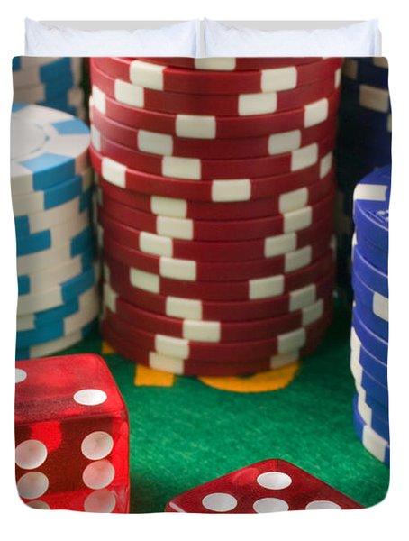 Gambling Dice Duvet Cover