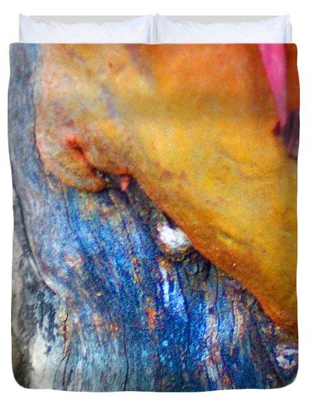 Duvet Cover featuring the digital art Ganesh by Richard Laeton
