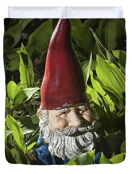 Garden Gnome No 0065 Duvet Cover by Randall Nyhof