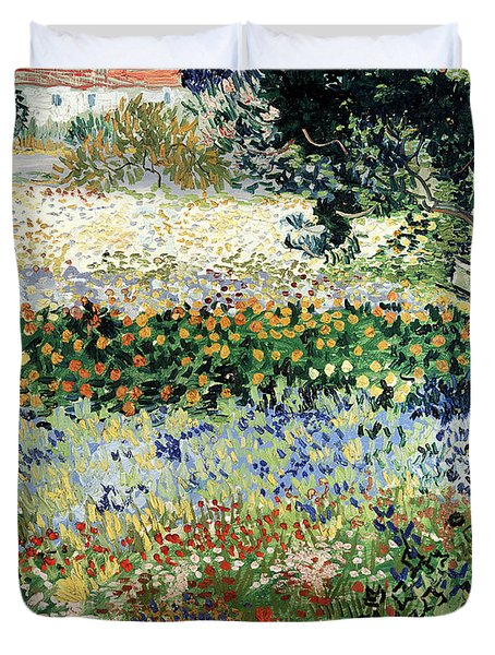 Garden In Bloom Duvet Cover by Vincent Van Gogh
