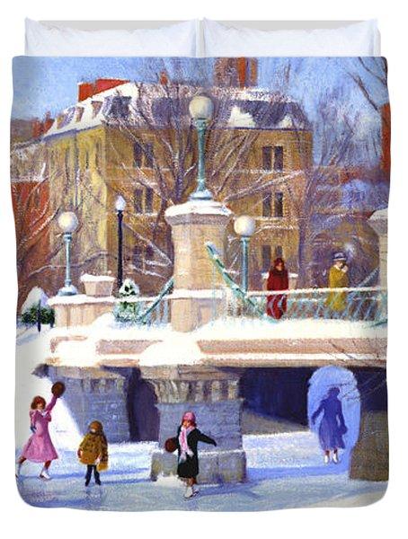 Garden Skaters Duvet Cover by Candace Lovely